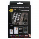 FM TRANSMITTER and Charger With Remote Control for iPhone 4S, 4, 3GS, 3, iPod (all generations) - Black