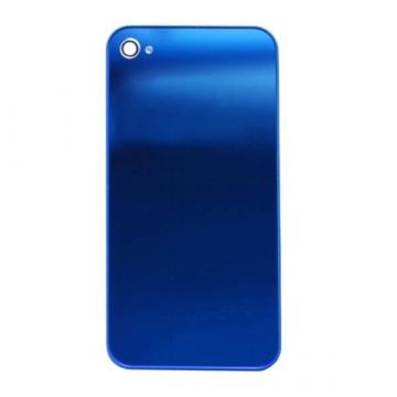 Ersatz Backcover Mirror Blau iPhone 4