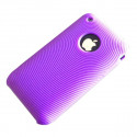 Flexible Silicone Backcover in purple & Circles Skin for iPhone 3G 3GS