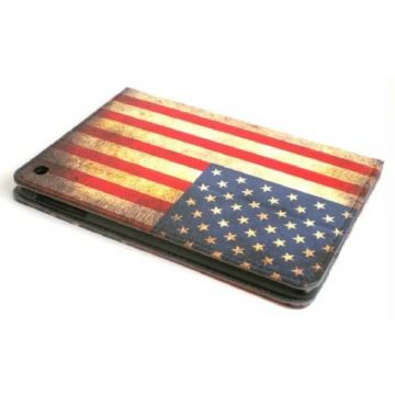 Stand case Vintage American Flag iPad Mini