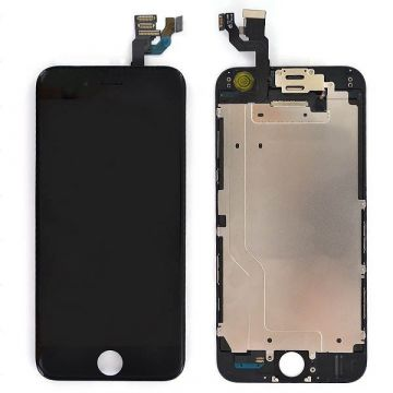 Complete 2nd quality Glass digitizer, LCD Retina Screen for iPhone 6S black