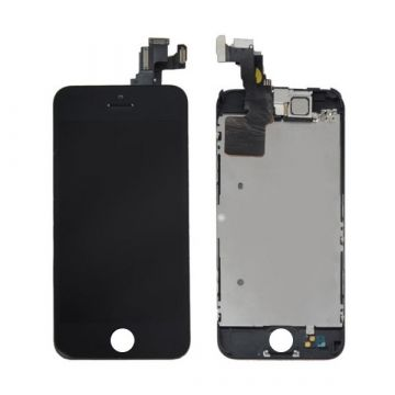 1st Quality Glass digitizer complete assembled, LCD Retina Screen and Full Frame for iPhone 5C Black