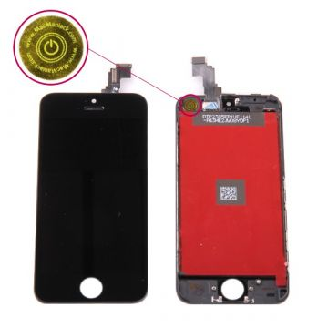 Second Quality Glass digitizer and LCD Retina Screen for iPhone 5C Black