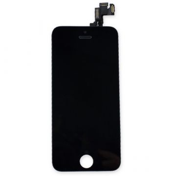 2nd Quality Glass digitizer complete assembled, LCD Retina Screen and Full Frame for iPhone 5S Black