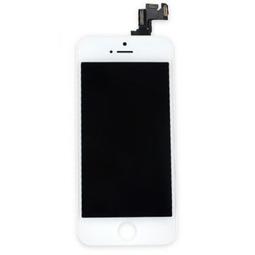 Original Glass digitizer complete assembled, LCD Retina Screen and Full Frame for iPhone 5S White