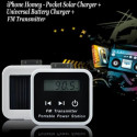 FM Universal Solar Charger for iPhone and iPod