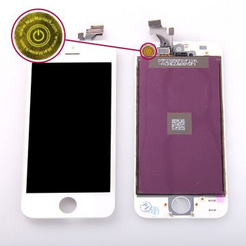1st Quality Glass digitizer, LCD Retina Screen and Full Frame for iPhone 5 White