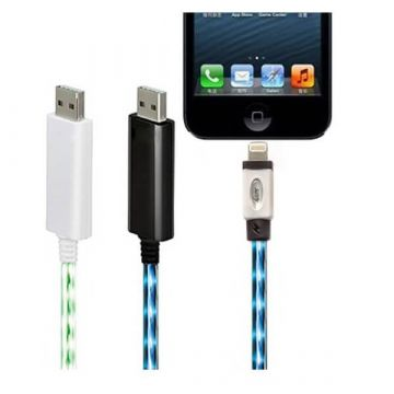 Witte LED-licht-kabel voor IPhone 5, iPad Mini, iPod Touch 5 et Nano 7