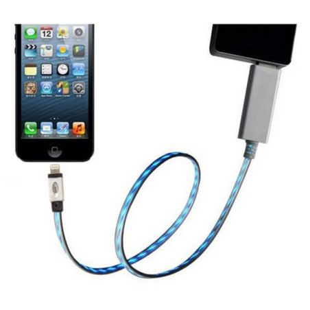 LED-Light Cable White IPhone 5, iPad Mini, iPod Touch 5 and Nano 7