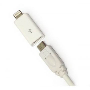 Adaptateur Lightning 30 pin vers Micro USB iPhone 5 - iPad Mini- Touch 5 et Nano 7