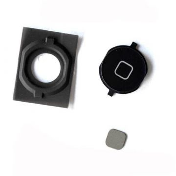 Home Button With Gasket iPhone 4S Black