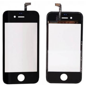 Touch screen digitizer with frame for iPhone 4 black