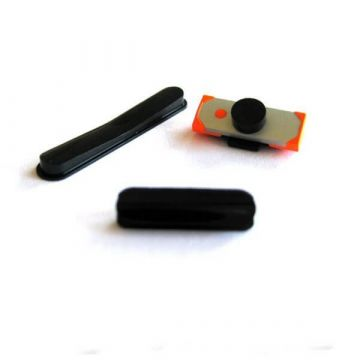 Set 3 boutons power, volume et mute noir iPad 2