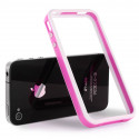 Bumper - Contour TPU Rose & Blanc IPhone 4 & 4S
