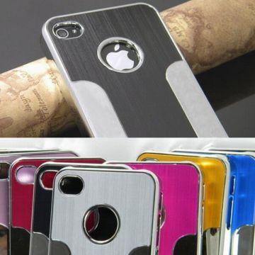 Brushed Aluminium Series Cover Fits iPhone 4 4S