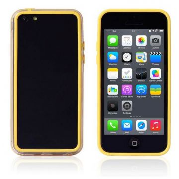 Bumper - Contour TPU jaune et transparent iPhone 5C