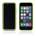Bumper - Contour TPU vert et transparent iPhone 5C