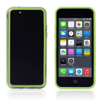 Bumper groen en transparante rand in TPU IPhone 5C