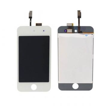 Touch Glass & LCD Screen & Full Frame for iPod Touch 4th Generation White