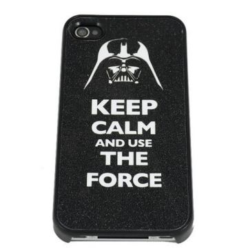 Keep calm and use the force harde beschermhoes voor iPhone 4 4S