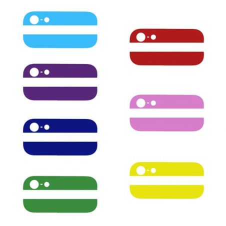 Colored Bottom and Top Glass Back Cover iPhone 5