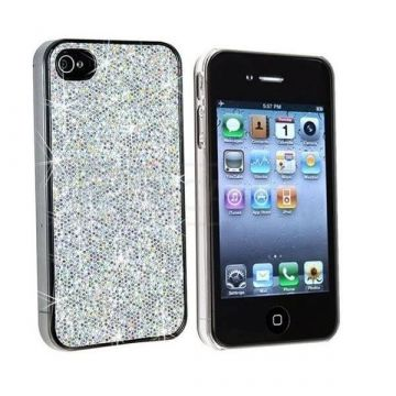 Glitter and Silver Cover Case for iPhone 4 4S