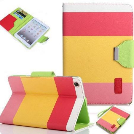 Rainbow Portfolio Stand Case iPad 2 3 4
