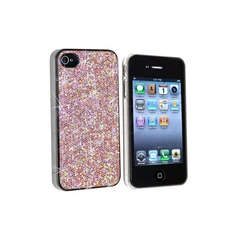 Pink Glitter Cover Case for iPhone 4 4S