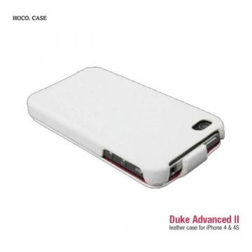 Hoco White Leather Cover Case iPhone 4 4S