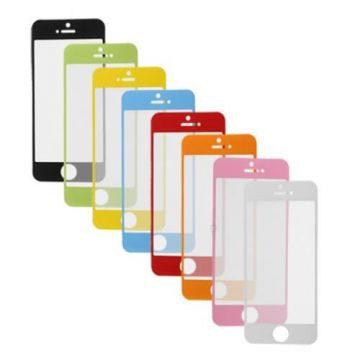Gekleurde screen protector iPhone 5/5S/5C/SE Voorkant Glanzend