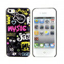 Coque rigide music jazz iPhone 4, 4S