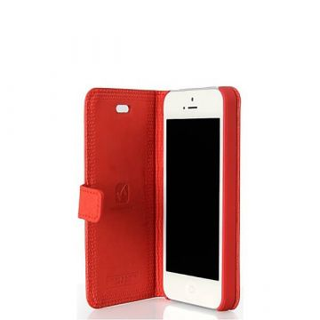 Lederen flip case HOCO - Happy Edition voor iPhone 5/5S/SE