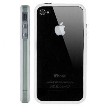 Bumper - Witte en transparante rand in TPU IPhone 4 & 4S