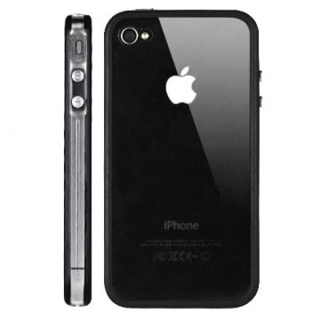 Bumper - Zwarte en transparante rand in TPU IPhone 4 & 4S