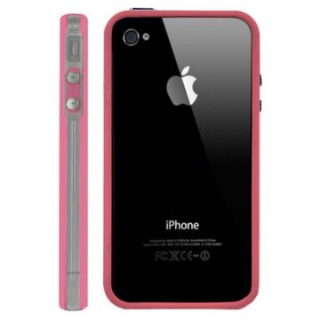 Bumper TPU for iPhone 4 & 4S Pink & Transparent