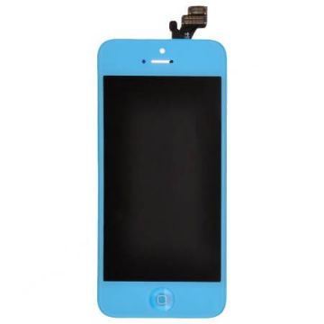 Light Blue Glass digitizer, LCD Retina Screen and Full Frame for iPhone 5