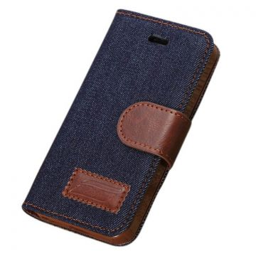 Etui portefeuille Jeans iPhone 5/5S/SE