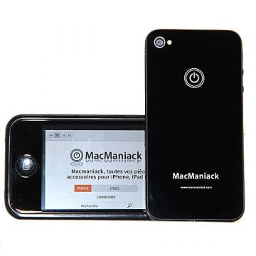 MacManiack Backcover Schwarz iPhone 4S