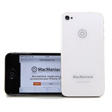 iPhone 4 achterkant MacManiack wit - iphone reparatie