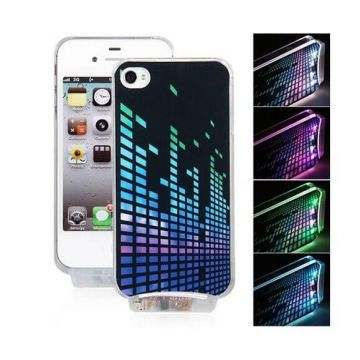 Coque lumineuse motif sample iPhone 4 4S
