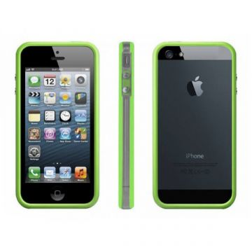 Bumper - Contour TPU Vert et transparent iPhone 5/5S/SE