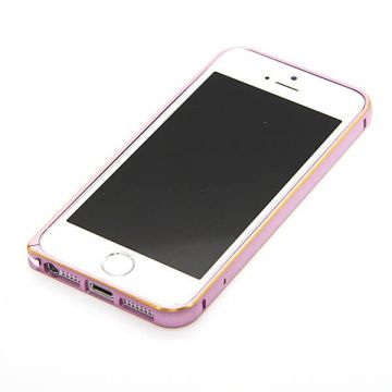 Bumper ultra-fin Aluminium 0,7mm arrondi contour doré iPhone 5/5S/SE