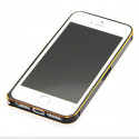 Ultra-thin 0.7mm rounded Aluminum Bumper gold iPhone 5/5S/SE