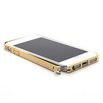 Bumper ultra-fin Aluminium 0,7mm contour doré iPhone 5, 5S