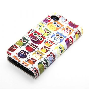 Etui portefeuille Hiboux iPhone 4 4S