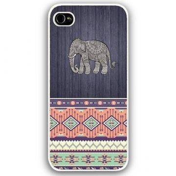 Coque iPhone 5C motif tribal éléphant