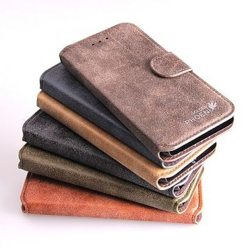 Suede Look Portfolio Stand Case iPhone 6 Plus