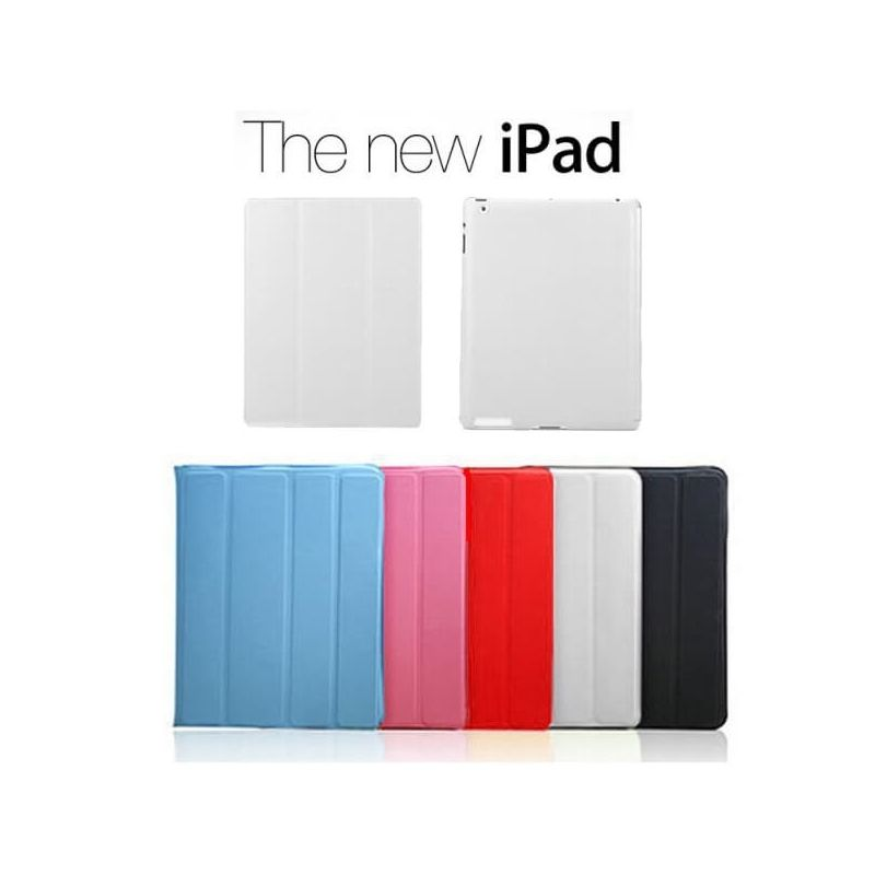 Polyurethane Integral Smart Case New iPad (iPad 3) White