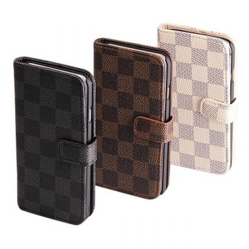 Chessboard Patern Portfolio Stand Case iPhone 6 Plus