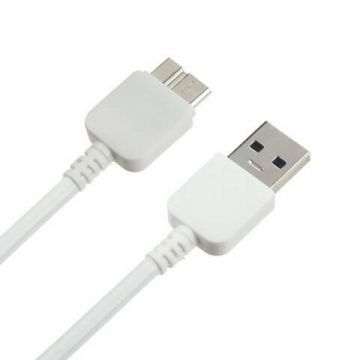 White Micro USB 3.0 cable for Samsung